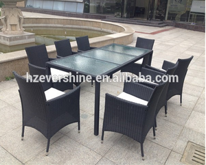 Outdoor Wicker Dining Sets of 7/ Rattan Garden Dining Tables and Chairs