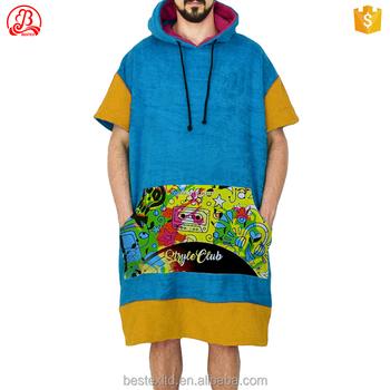 Günstige Surf Kleidung Logo Frottee Poncho Machen Erwachsenen Mit