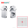 304 Stainless steel slide door locks glass door hook lock slide door lock