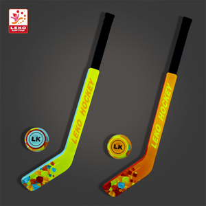 Promotional gifts color full print mini PU soft Popsicle toy ice hockey stick for kids