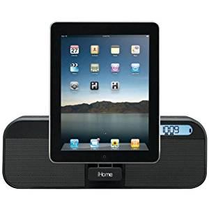 iHome ID28BZC Ihome Id28bzc Iphone(R)/Ipad(R)/Ipod(R) App-Enhanced Portable Rechargeable Fm Alarm Clock Radio With Remote