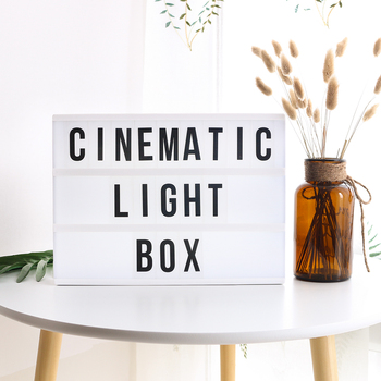 Diy a4 cinema lightbox cinematic led light box with letters