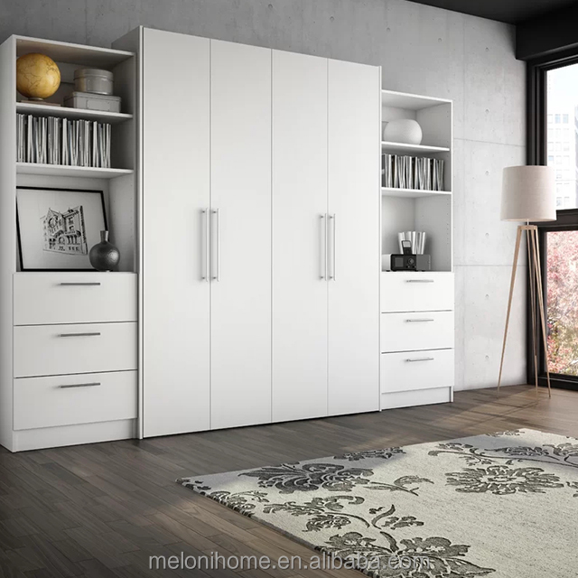 White or Black Pull out Bed from Wall,Electric System Invisible Murphy Bed for Pakistan