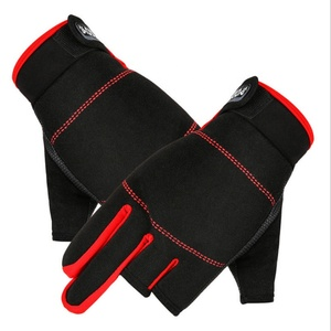 Outdoor Cold Windproof Three Fingers Riding Warm Sports Fishing Gloves