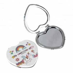 wholesale make up accepted small order PU compact mirror