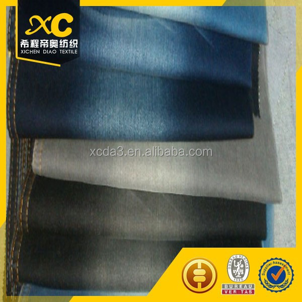 "cotton poly spandex 57/58"" satin denim fabric with azo for free"