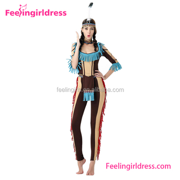 Halloween Sexy Indians Costume Tribe Cheap Bodysuit For Women Buy