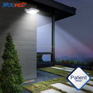 Black Solar Powered Light Wall Mounted Waterproof Wireless Outdoor Solar Security Motion Sensor