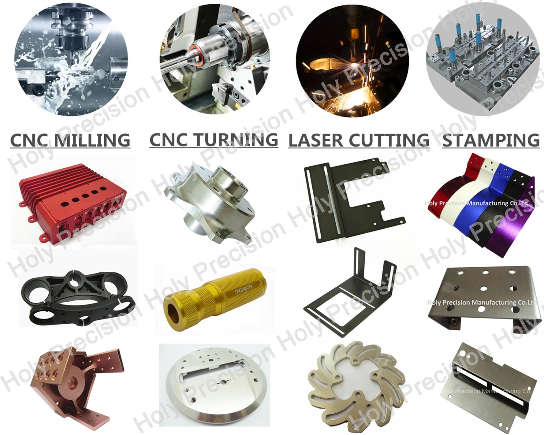 Santo cnc personalizada producto de metal de precisión de plástico mecanizado parte de mecanizado cnc bloque de aluminio