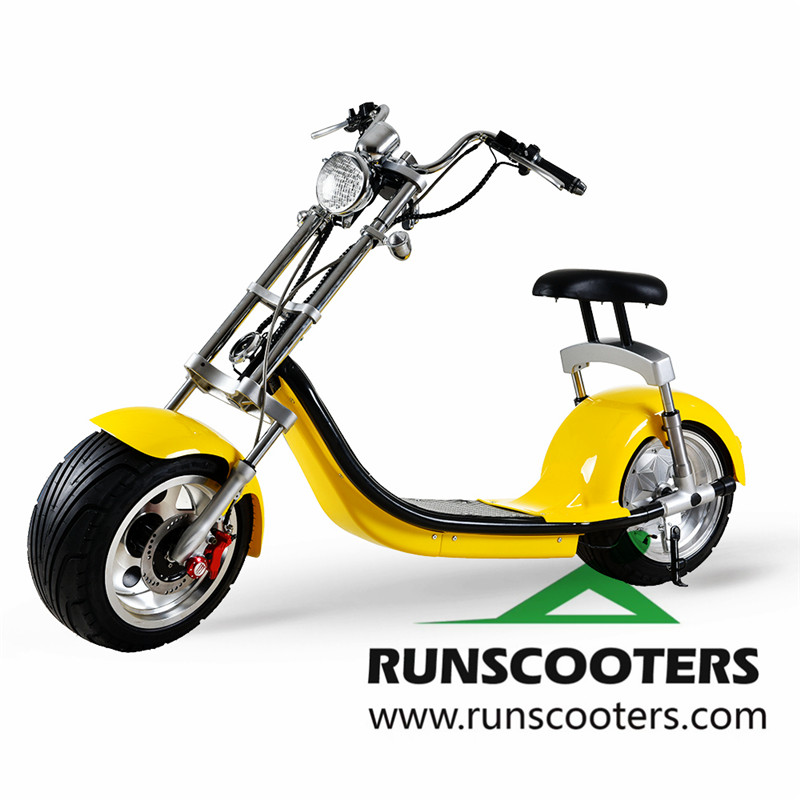 2018 new Removable and Double Battery Long 1000w electric motorcycle adult fat tire electric scooters, Golden;blue;red;black or customized