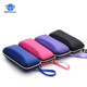 2018 Eyewear Cases cover sunglasses case for women glasses box with lanyard zipper eyeglass cases for men sunglasses accessories