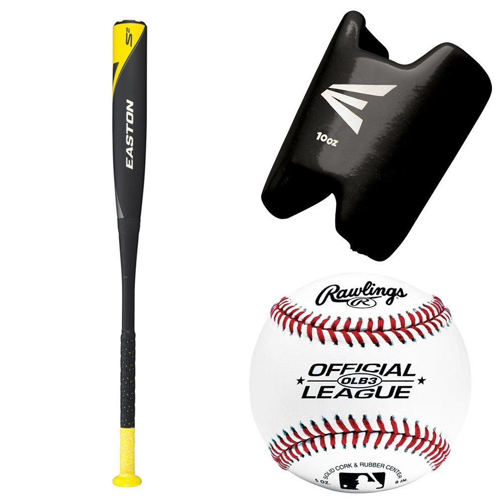 Easton S500 Speed Brigade Bat w/ 10 Oz. Baseball Bat Weight Training Aid & Official League Play Baseball