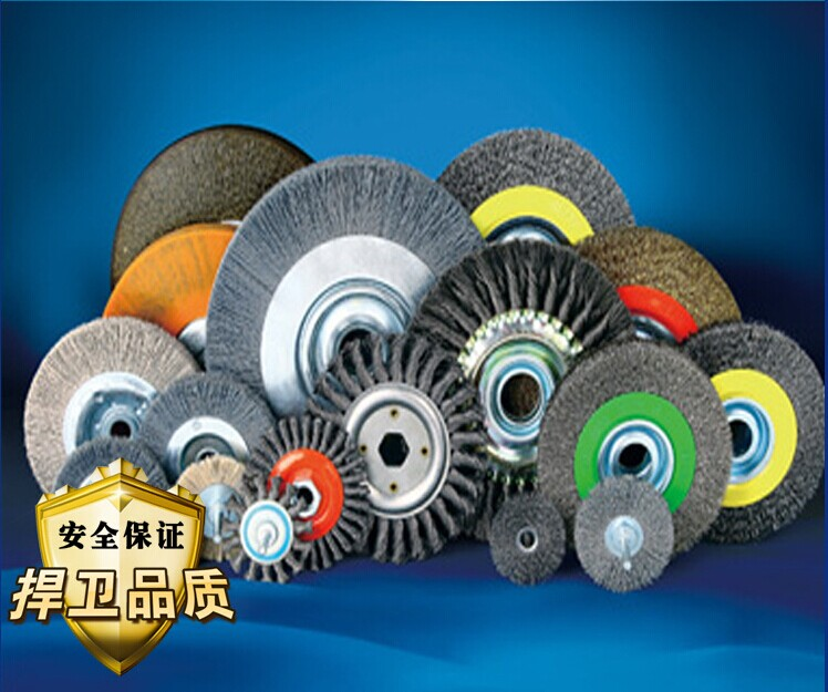 Reliable supply of abrasive wire buff / abrasive wire wheel / all types of wire wheels quality hot sales new designed customer