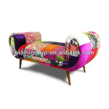 Colourful Patchwork Chaise Lounge In Spanish Style For Studio