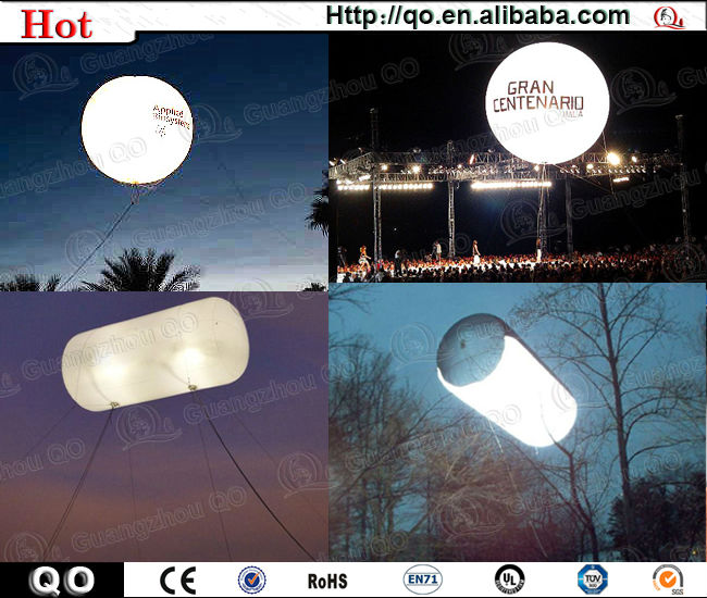 Hot wholesale outdoor Illumination pvc light helium balloon for advertising decoration