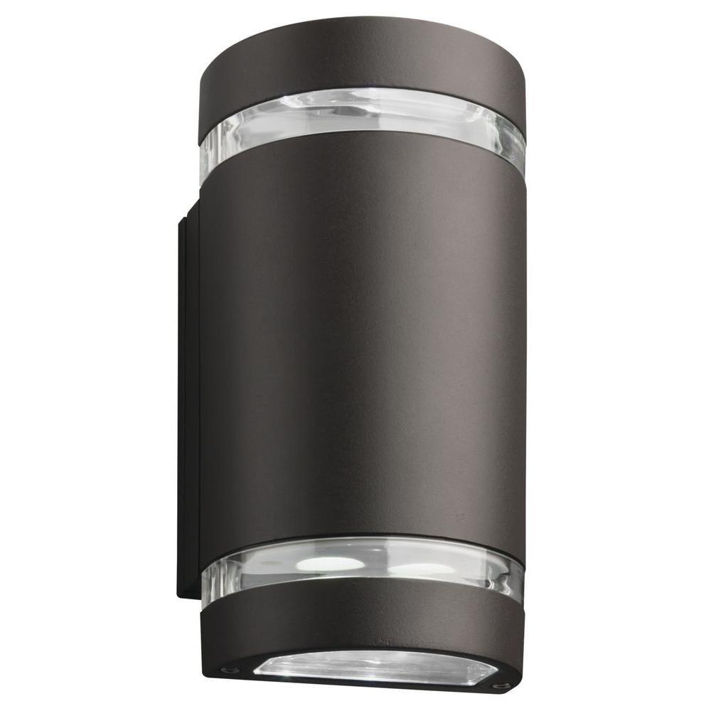Lithonia Lighting OLLWU LED P1 40K 120 DDB M6 Led Outdoor Cylinder Up & Down Light, 120V, 4000K, 9W, Dark Bronze