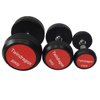 Manufacturer wholesale comercial gym rubber dumbbell Deluxe rubber dumbbell good Fixed rubber dumbbell