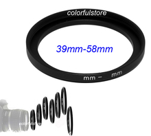 Professional 39mm to 58mm 39mm-58mm 39-58 mm 39 58 Metal Step-Up Step Up Ring Camera Lens Lenses Filter Stepping Adapter Hood YN