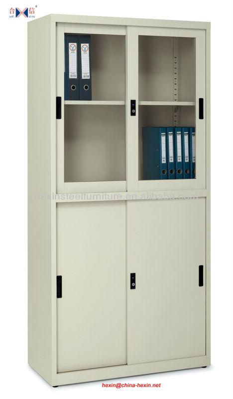 New Large Filing Cabinet With Glass And Metal Doors,Types Of Office Files,Files  Cabinet Design   Buy Filing Cabinet,Metal Cabinets With Glass Sliding Door  ...