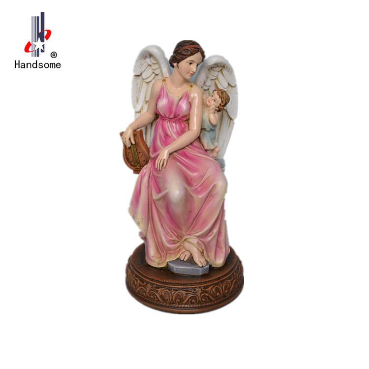 Decoration european lady statue resin women for wedding