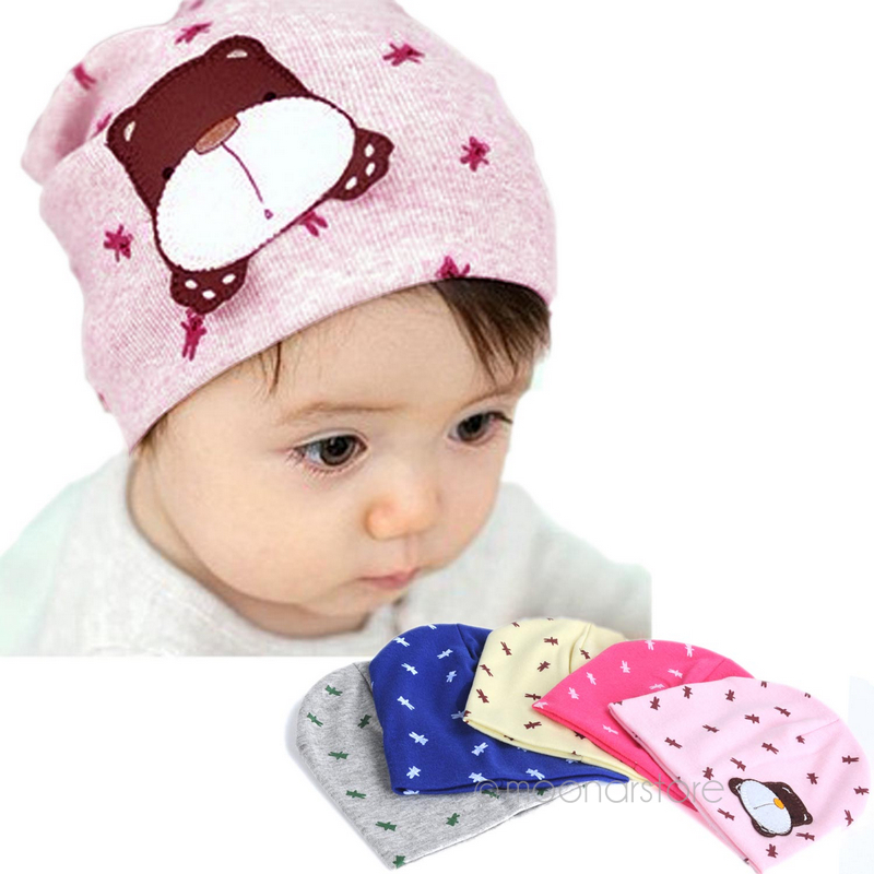 head cap Babys hat babys cotton cap for baby 0 12M with cute little dog  pattern 37e84048d00