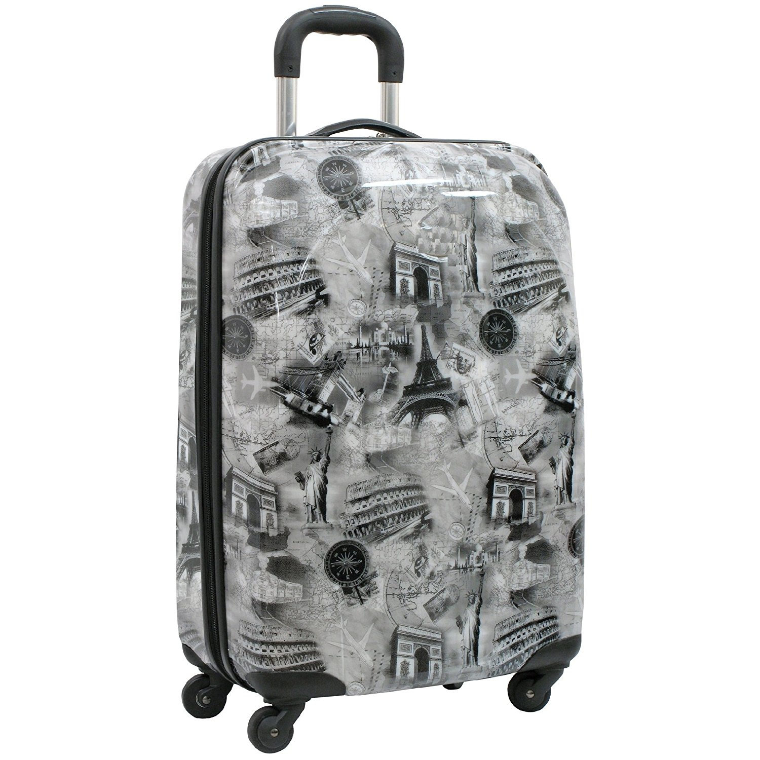 Simple Brown Leopard Print Traveler Lightweight Rotating Luggage Protector Case Can Carry With You Can Expand Travel Bag Trolley Rolling Luggage Protector Case