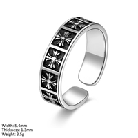 RUA2-027 lots crosses open rings silver woman men ring