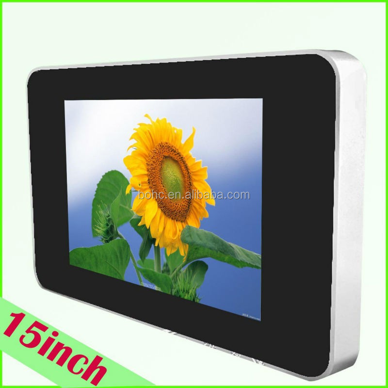 "2014 15"" usb SD card Media Sound Player LCD AD display"