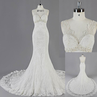 WD16057 Custom Made V-neck tulle wedding dress in turkey