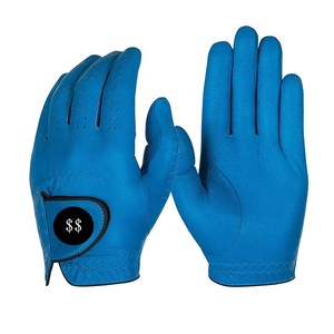 Men's Left-handed Colored Lambskin leather Golf Gloves