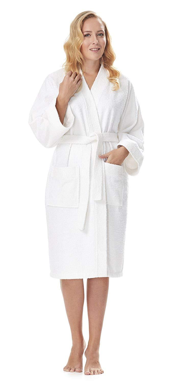 e593d3122c Get Quotations · Arus Women s Short Kimono Lightweight Bathrobe Turkish Cotton  Terry Cloth Robe
