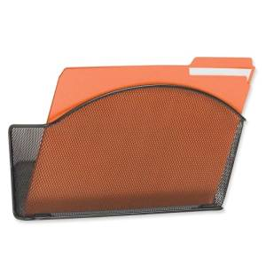 """Wholesale CASE of 10 - Safco Mesh Wall Pockets-Mesh Wall Pockets, Letter, 12""""x3""""x9"""", BK"""