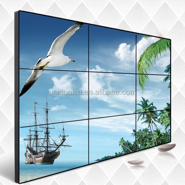 3x3 không thường xuyên bức tường video ứng dụng video bảng điều khiển tường trong suốt trong nhà hd thanh lịch bức tường video