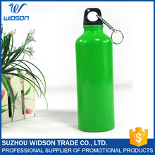 500ml Aluminum Metal Sport Water Bottle With Carabiner