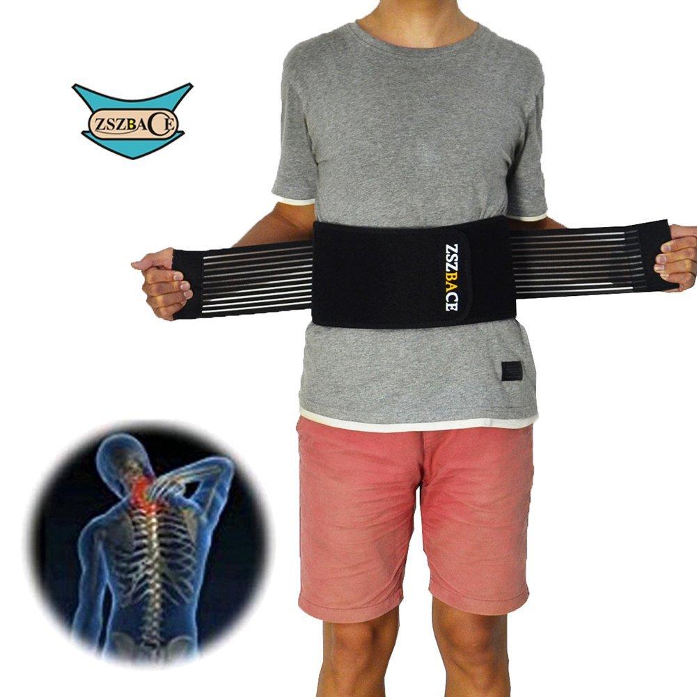 a5a16cb801a ZSZBACE Waist Support Lumbar Brace - Double Pull Lumbar Support Back Brace  Belt