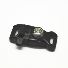 plastic curved buckle,curved side release buckle with fire starter factory wholesale