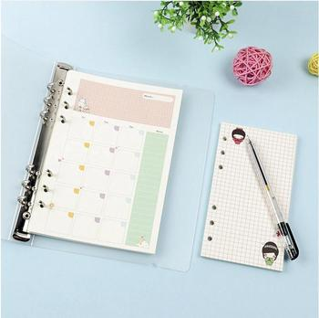 Line printed Refill Pad/Filler Paper 6 ring binder planner inserts for loose leaf notebook