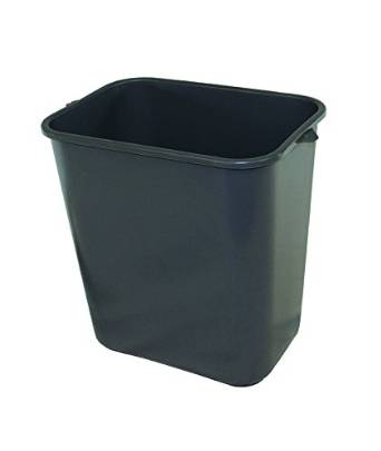 """Impact 7702-3 Pinch'm Plastic Rectangular Soft-Sided Wastebasket, 28 qt Capacity, 14-1/2"""" Length x 10-1/2"""" Width x 15-1/2"""" Height, Gray (Case of 12)"""
