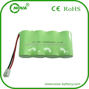 ni-mh c 4.8v 4000mah nimh rechargeable battery pack