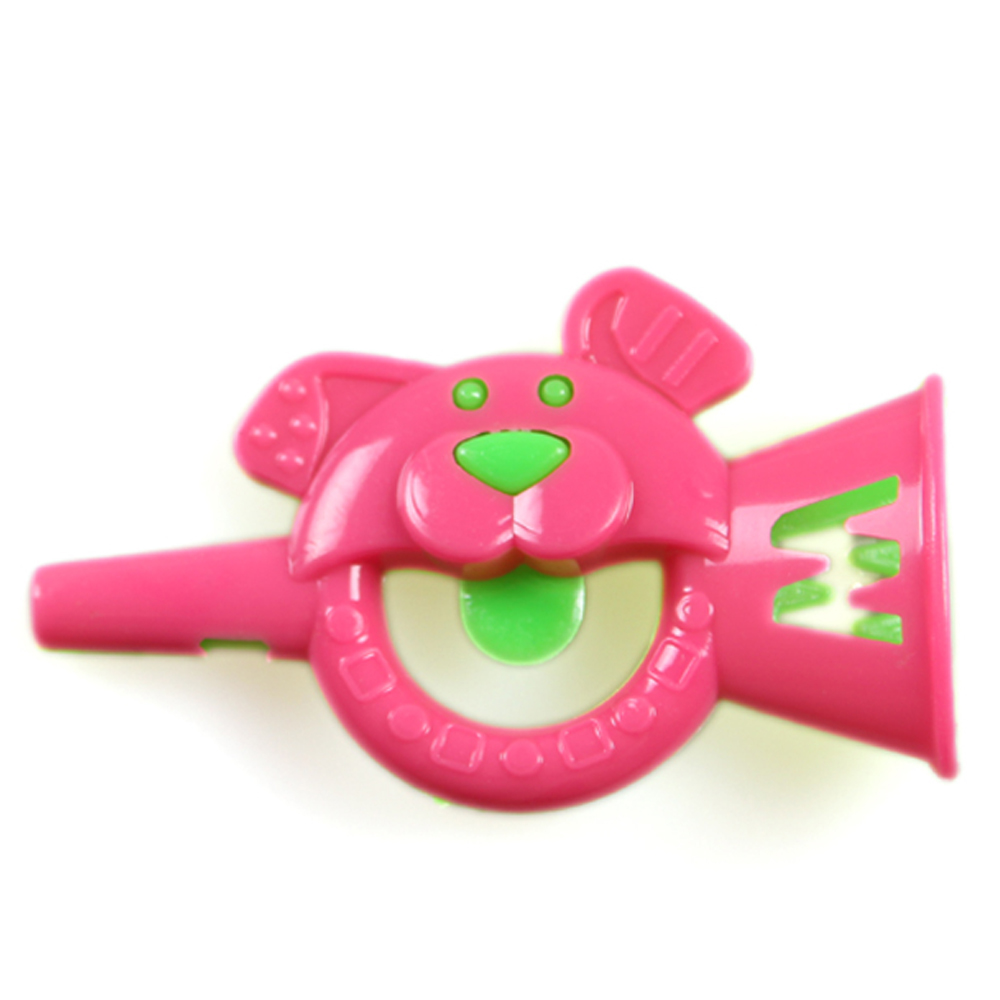 Bells and whistles cartoon character animal plastic toys