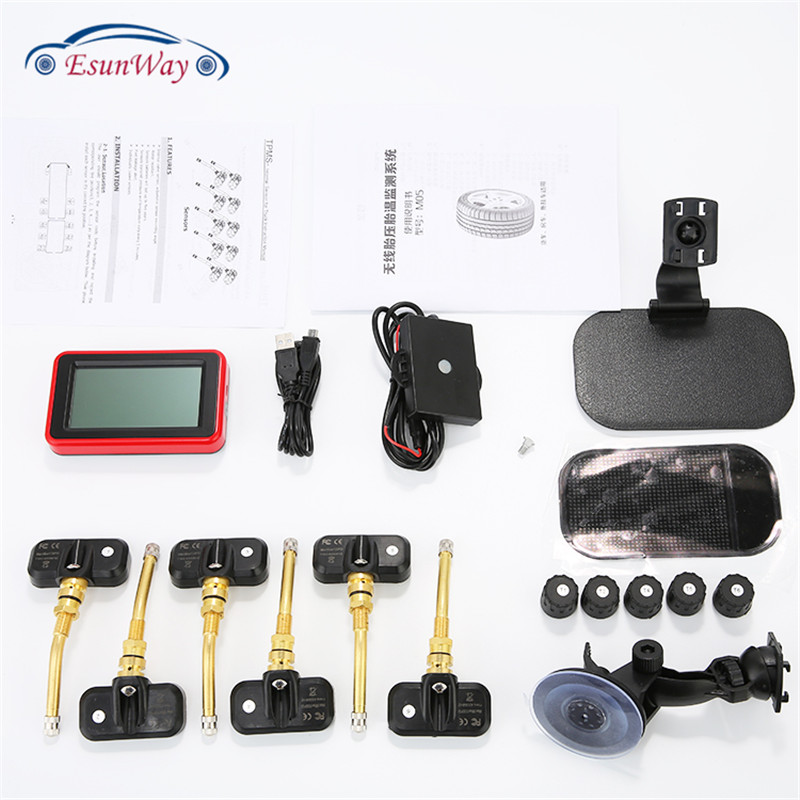 Auto Truck TPMS Car Wireless Tire Pressure Monitoring System with Internal Sensor