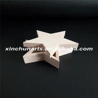 Unfinished star shaped wooden box wholesale
