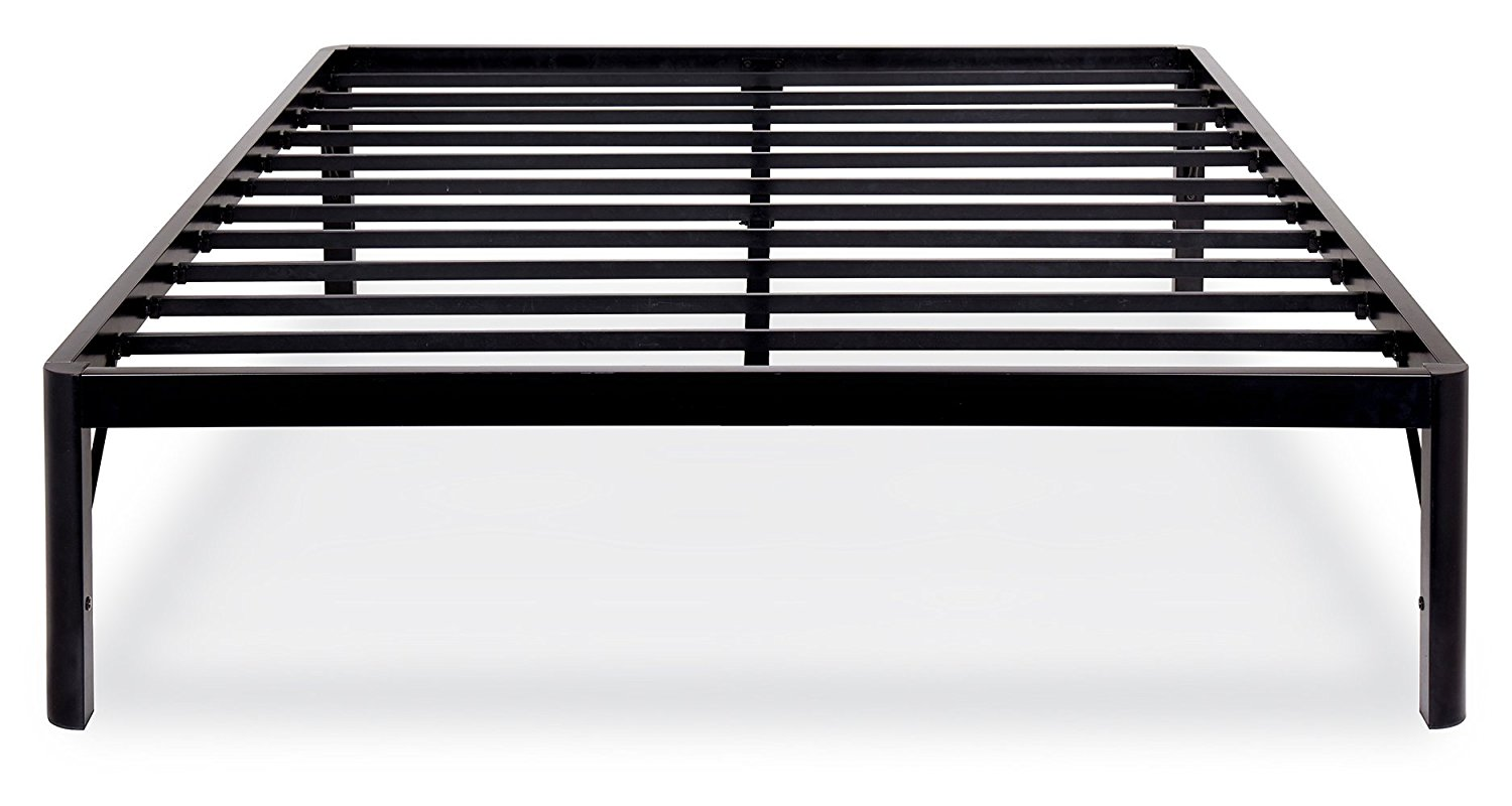 Get Quotations Olee Sleep 14 Inch Tall Round Edge Steel Slat Bed Frame S 3500 High Profile