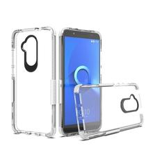 Hot selling dubbele kleur 2 in 1 combo valweerstand shockproof clear transparent case <span class=keywords><strong>voor</strong></span> <span class=keywords><strong>alcatel</strong></span> 7 folio case