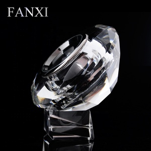 FANXI China Wholesale custom high transparency jewellery gemstone box loose diamonds packing case crystal diamond display