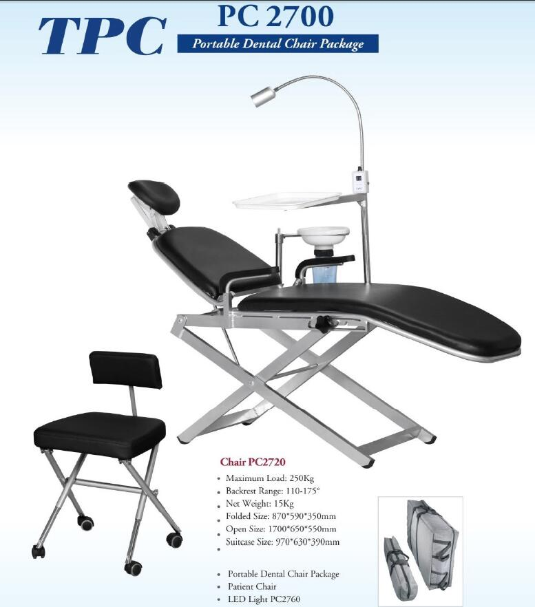 High Quality Folding Portable Dental Chair easy carry and esay operate