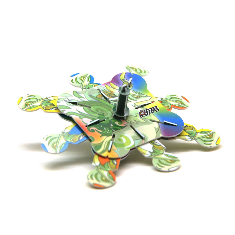 Easy installation eco-friendly children learning plastic spinning top toy