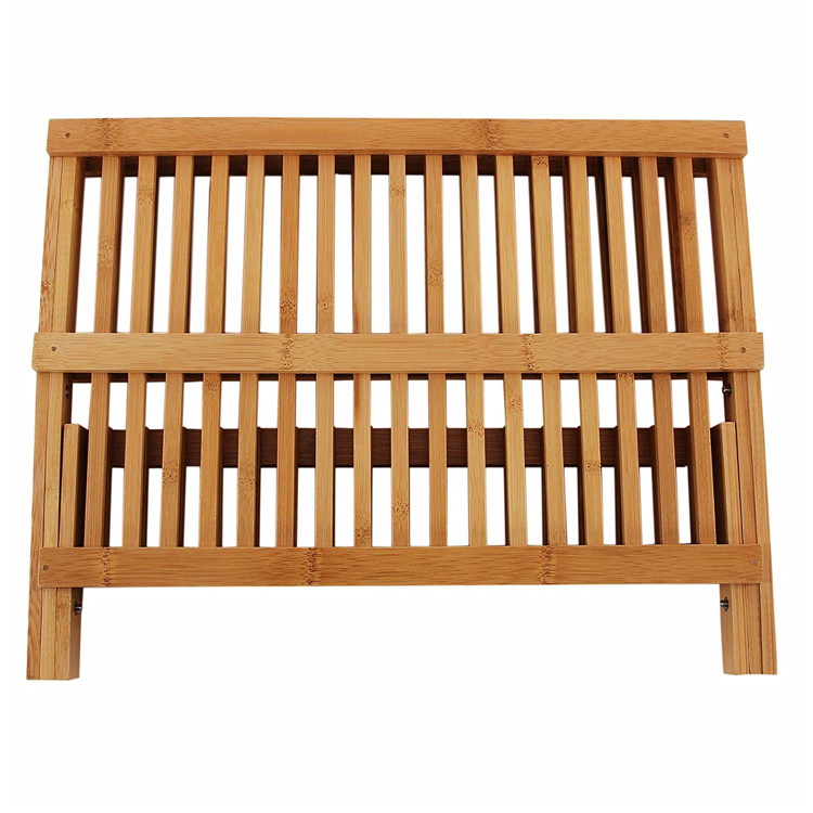 High Quality Bamboo Plate Rack 9