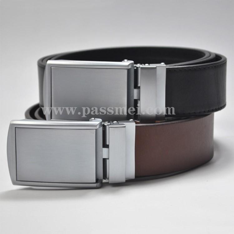 Men High Quality Zinc Alloy Buckle Leather Belt