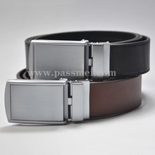 custom wholesale western fashion automatic buckle belt for mens designer full grain vegetable tanned genuine leather belt